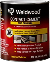 DAP 00273 1 Gallon Weldwood Original Contact Cement, Tan