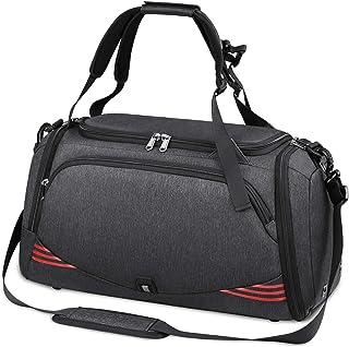 comprar comparacion NUBILY Bolsa Deporte Hombre Bolsas Gimnasio Mujer Bolso Fin de Semana Viaje con Compartimento para Zapatos Gym Bag Imperme...
