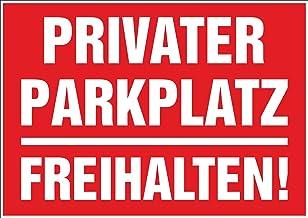INDIGOS UG - Sticker - veiligheid - waarschuwing - 5 sets privé parkeerplaats - vrij houden! - 297 mm x 210 mm - hotel, be...
