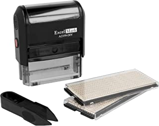 ExcelMark Self-Inking Do It Yourself Stamp Kit - A2359-DIY - Black Ink