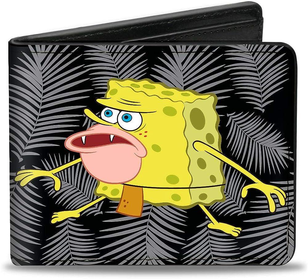 Buckle-Down Men's Standard Bifold Wallet, SpongeBob SquarePants, 4.0