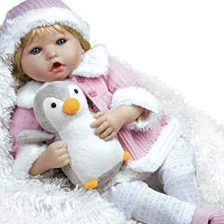 Paradise Galleries Lifelike Reborn Baby Doll in Flextouch Silicone Vinyl Penguin, 22 inch Weighted Girl Doll, 7-Piece Doll Gift Set