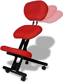 cinius Silla ergonómica Profesional Color Negro/Rojo con Respaldo