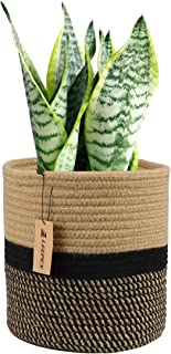 Leepes Jute Rope Plant Basket Modern Woven Basket for 10