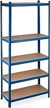 Relaxdays Rekken voor zware lasten XL, draagvermogen 1325 kg, 220x100x45 cm, 5 planken, om in te steken, staal, voor kelde...