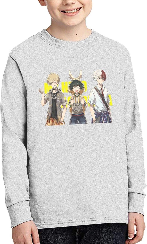 Teens Boys' Cotton 3D Printed Comfty Round Neck Long Sleeve T-Shirt Anime Graphic Tee Shirt Tops