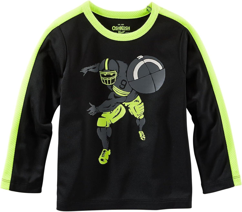 OshKosh B'Gosh Little Boys' Graphic Athletic Tee (Toddler/Kid) - Football - 2T