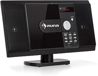 auna MCD-82 BT - Equipo estéreo Compacto, Bluetooth, Reproduce CD y DVD, Puerto USB y Entrada SD, FM, HDMI, AUX, MP3, Pant...