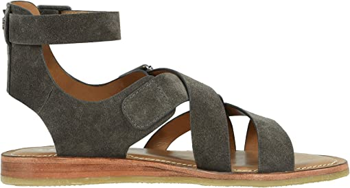 Gray Oiled Italian Suede