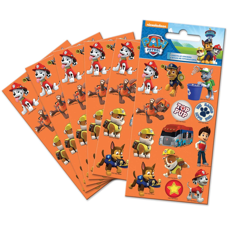 Paper Projects 9107083 Paw Patrol - Adhesivos (6 unidades), color naranja: Amazon.es: Juguetes y juegos