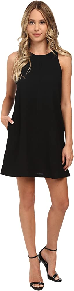 Crepe Tank A-Line w/ Pockets Dress