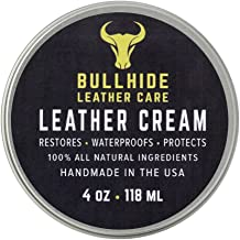 Bulllhide - Leather Cream - Natural Leather Conditioning Cream - Conditions Against Scratches, Fading, Color Transfer, Cracks, Wear Marks - Made in USA - 4 oz.
