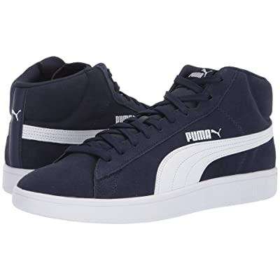 PUMA Puma Smash V2 Mid SD (Peacoat/Puma White) Men