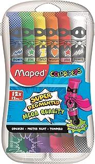 Maped Color'Peps M810520 Gouache Paints In Plastic Box, 12 X 12 Ml