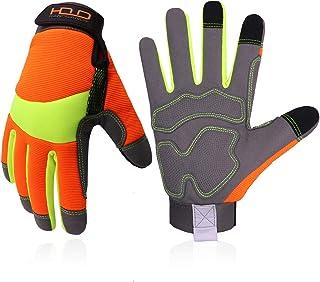 Utility Work Gloves for Men and Women, Hi Viz Safety Work Gloves, Touch Screen Mechanic Working...