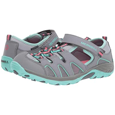 Merrell Kids Hydro H2O Hiker Sandals (Big Kid) (Grey/Turquoise) Girl