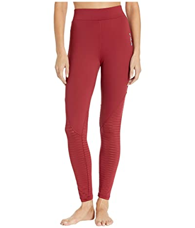 Fila Soni Burnout High-Rise Leggings (Biking Red) Women