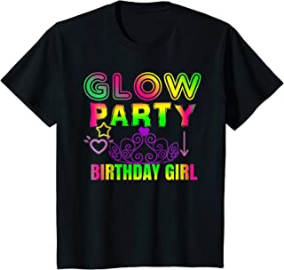 Kids Glow Party Birthday Girl Shirt Outfit Idea For Little Girls