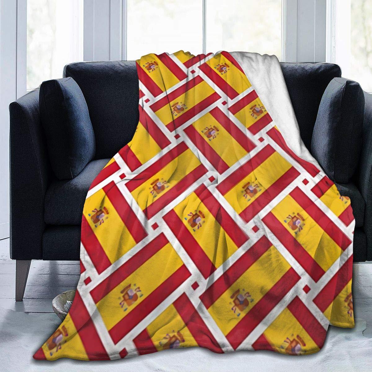 Bandera de España España Manta de Tiro cálido de 80x60 Pulgadas Forro Polar de Franela Ultra Suave Todas Las Estaciones Sala de Estar Liviana Dormitorio para niños Padres y Abuelos Adultos: Amazon.es: