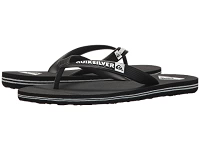Quiksilver Kids Molokai Youth (Toddler/Little Kid/Big Kid) (Black/Black/White) Boys Shoes