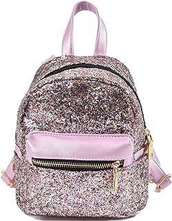5c8d69c45391 SEALINF Women Girl Bling Mini Backpack Convertible Shoulder Cross Bags Purse