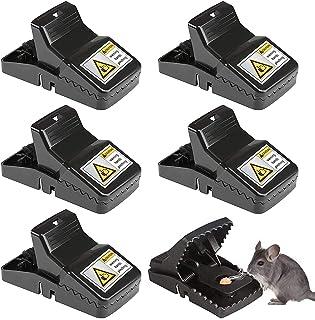 6個セット簡単 ネズミ 捕り 駆除 捕獲器 繰り返し 害獣 駆除 捕獲器 マウス トラップ 庭 家庭菜園 簡単組立 設置