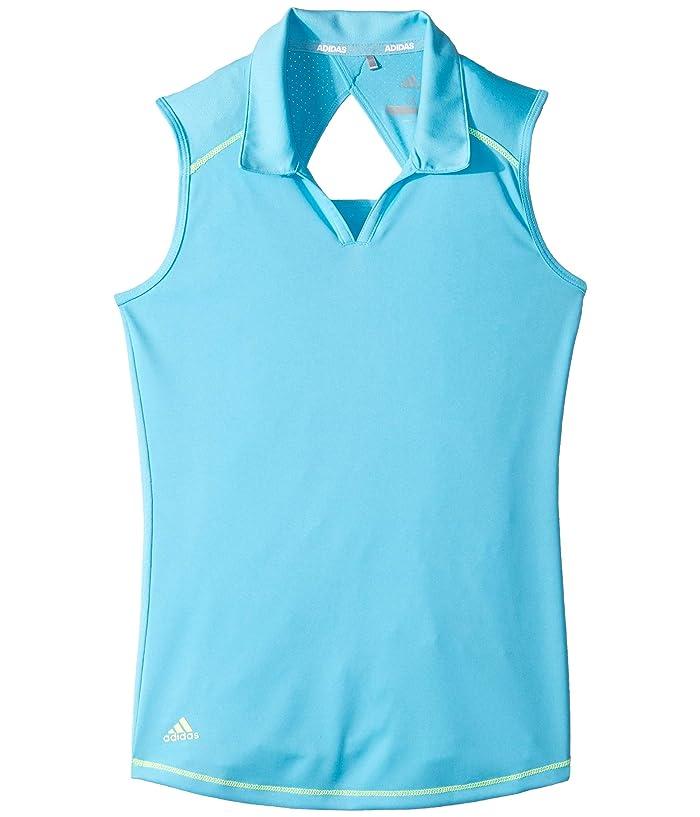 adidas Golf Kids  Fashion Sleeveless Polo (Big Kids) (Bright Cyan) Girls Sleeveless