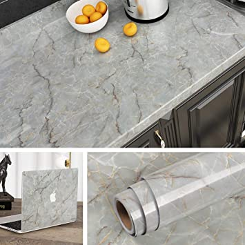 Livelynine Countertop Contact Paper Waterproof Kitchen Counter Top Covers Green Marble Wallpaper Peel And Stick Countertops Furniture Walls Cabinets Bathroom Vanity Decor Removable 15 8x78 8 Inch Amazon Com