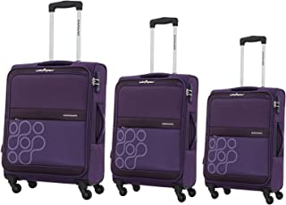 Kamiliant by American Tourister Venda Softside Spinner Luggage Set of 3, with TSA Lock - Purple