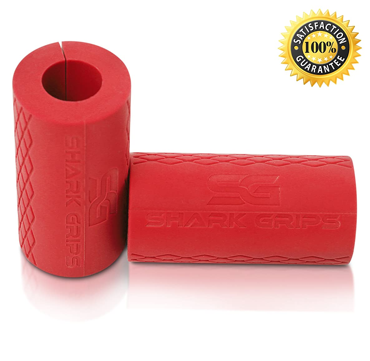 Shark Thick Bar Grips Turns Barbell, Dumbbell, and Kettlebell Into Grips for Bar Training and Muscle Growth. Strengthen Your Forearm, Biceps, Triceps, Chest. Crossfit, Strongman, Bodybuilding