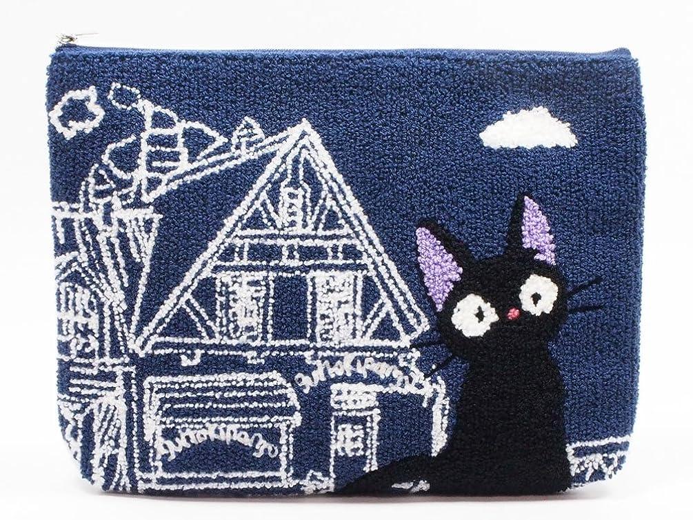 稚魚うめき好奇心スタジオジブリ 魔女の宅急便 相良刺繍ポーチ ジジ 店番