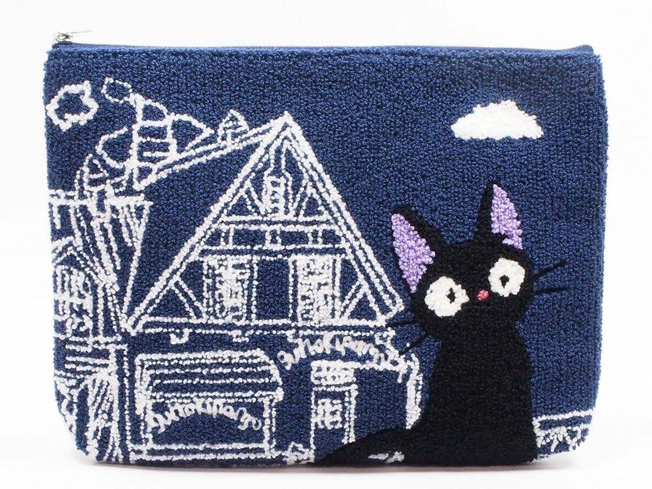 すぐに不満基本的なスタジオジブリ 魔女の宅急便 相良刺繍ポーチ ジジ 店番