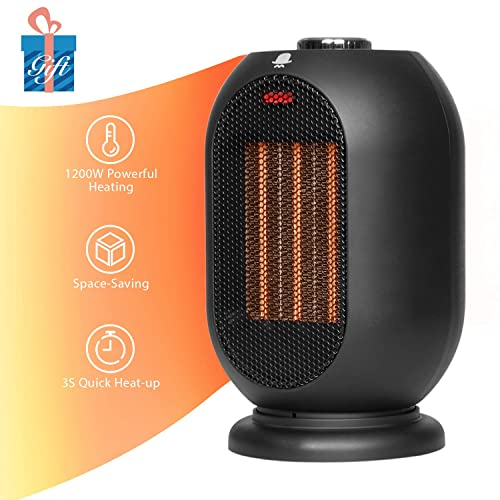 Small Portable Swiveling Heater Oscillating Caravan Camping Desk Hot Heating Fan