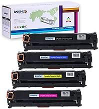 CP1215 Toner Replacement for HP 125A CB540A, BAISINE 4-Pack (CB540A Black, CB541A Cyan, CB542A Yellow, CB543A Magenta), Used in HP CP1518ni CP1215 CM1312nfi CP1515n CM1312 MFP Printer