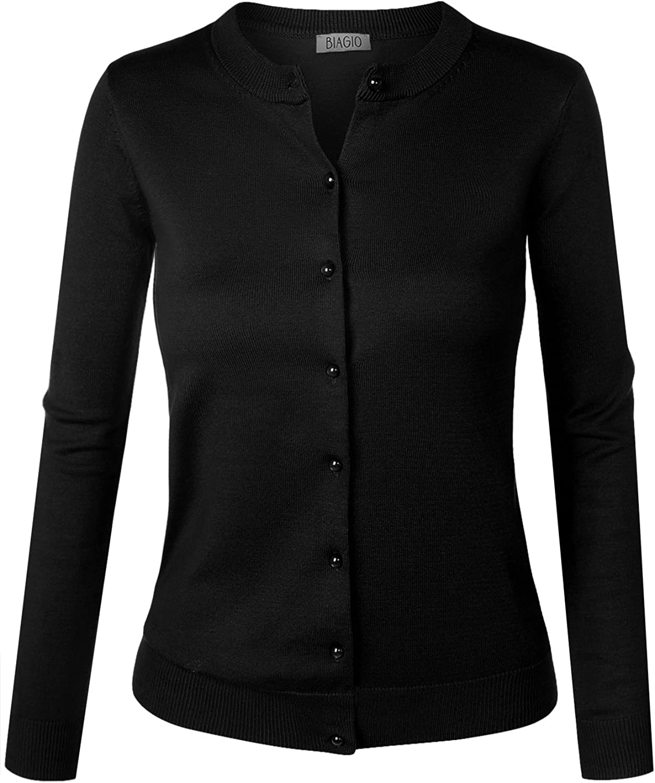 BIADANI Women Button Down Long V-Neck Max 69% OFF Sweat Gifts Sleeve Cardigan Soft