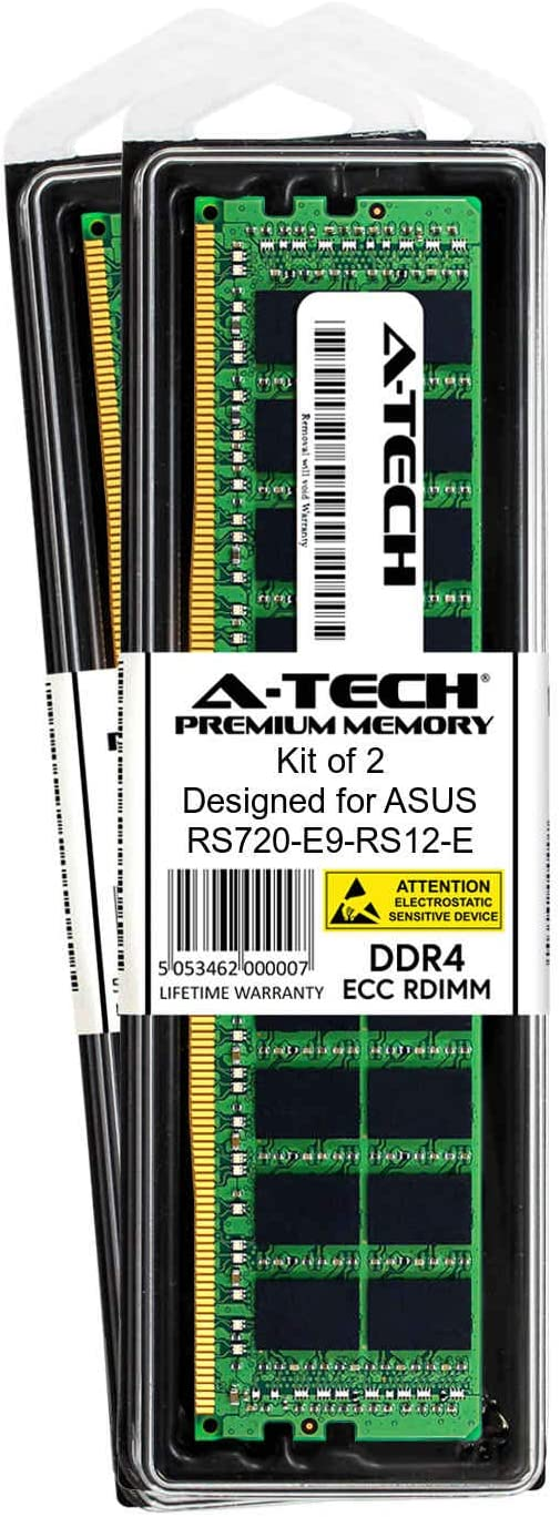 DDR4 PC4-21300 2666Mhz ECC Registered RDIMM 1rx4 A-Tech 16GB Module for ASUS RS720-E9-RS12-E Server Memory Ram AT394456SRV-X1R5