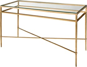 Safavieh American Homes Collection Baumgarten Antique Gold Glass Couture Console Table
