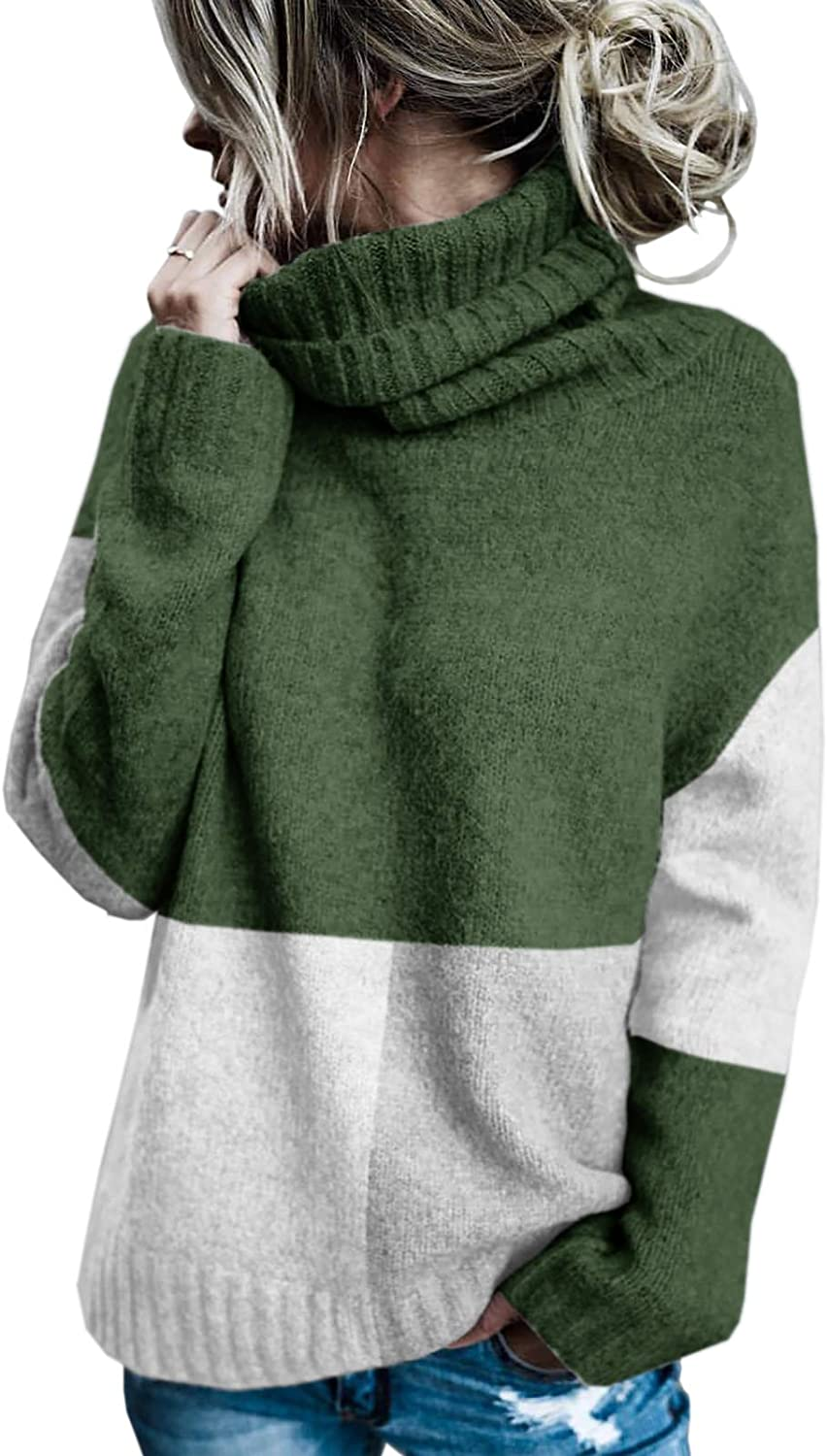 Sherrylily Womens Oversized Sweaters Turtleneck Batwing Super special price Sleeve C Soldering