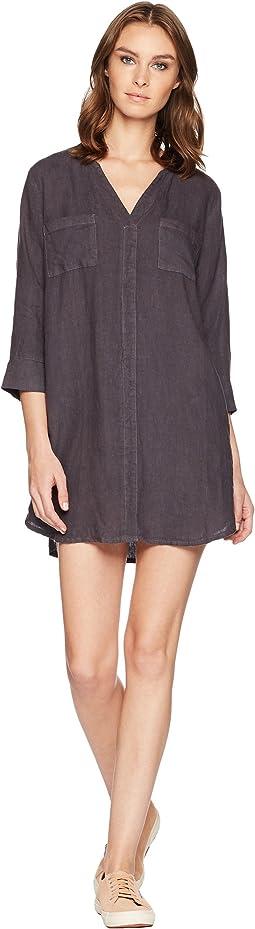 Allen Allen Solid Two-Pocket Dress