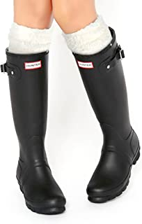 Thermal Fleece Welly Socks Compatible for Hunter Tall Rain Boots