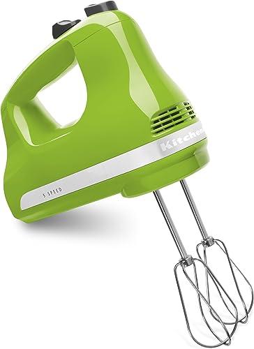 2021 KitchenAid online sale KHM512GA 5-Speed Ultra outlet online sale Power Hand Mixer, Green Apple outlet online sale
