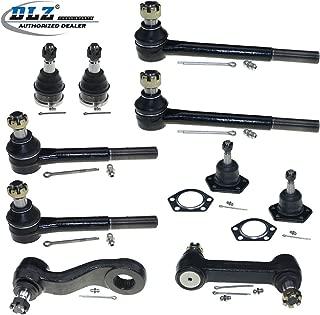 DLZ 10 Pcs Front Suspension Kit-4 Ball Joint 4 Tie Rod End 1 Pitman Arm 1 Idler Arm Compatible with Chevrolet Blazer C10 K5 Blazer P10 P10 Van, GMC C15 C1500 P15 P1500, GMC Jimmy