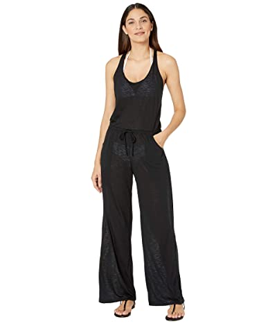 BECCA by Rebecca Virtue Breezy Basics Twist Back Jumpsuit Cover-Up (Black) Women