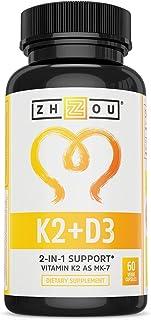 Vitamin K2 (MK7) with D3 Supplement – Vitamin D & K Complex – Bone and..
