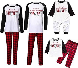 Pijamas De Navidad Familia Conjunto Mujer Hombre Niños Camisetas De Manga Larga Sudadera Chándal Familia Conjunto de Pijamas Navideños
