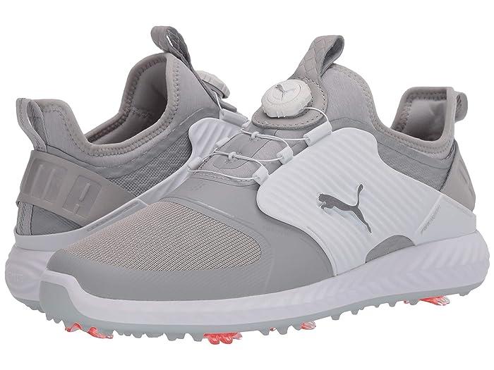 PUMA Golf  Ignite PwrAdapt Caged Disc (Gray Violet/Puma Silver/Puma White) Mens Shoes