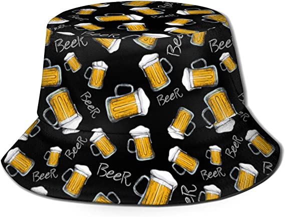 Sun Hat Unisex Leisure Sunscreen Bucket Hat. Bull Terrier Wine Champagne Cocktails Fabric Pattern Dog Breed Grey Camping Hiking Fisherman Hat