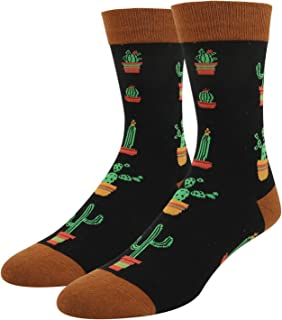 Men's Novelty Funny Alien Llama Cactus Big Foot Crazy Funky Weird Crew Socks