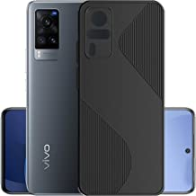 Hupshy Soft TPU Back Cover for Vivo X60 Black