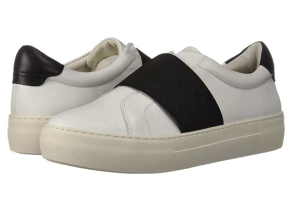 J/Slides Adorn (White/Black Leather) Women